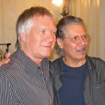 """Larry and Chick Corea, after Al Jarreau concert where Chick joined the band for """"Spain"""", Marseille, France, 2010"""