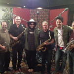 """Arranged horns for John Mayer's duet with Katy Perry, """"You Love Who You Love"""". Gary Grant, Dan Higgins, Don Was (Producer), Larry Williams, John Mayer, Bill Reichenbach, March 2013."""