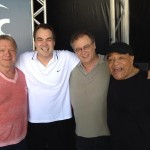 Rio, 2013, Larry Williams, Daniel and Paulo Jobim (grandson of Antonio Carlos), and Al Jarreau