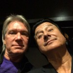 Jan 18, 2014 Larry Williams and Steve Perry at Guitar Center's annual Drum-Off, Club Nokia, Los Angeles