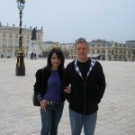 Larry on tour in Nancy, France with wife, Denise David Williams, 2009