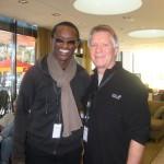 Larry with French drummer Roger Biwaandu, Sweden, 2009