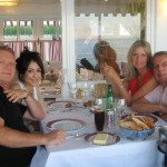 """Larry and Denise with Kathy and Rod Temperton (composer of """"Thriller"""" and other Michael Jackson hits) in Cannes, France, 2010"""