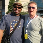 Larry with Christian McBride in Nice, France, 2009