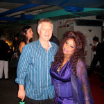 Larry with Chaka Khan at the Oscars, 2007