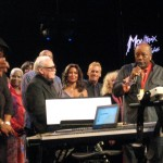 Larry (to the right of Quincy Jones) at Quincy Jones' 75th birthday celebration in Montreux, Switzerland, 2008