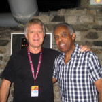 Larry with Brazilian legend Gilberto Gil, in Vienne, France, 2011