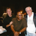 Larry Williams, Quincy Jones and Larry's dad Tommy Williams, 2001
