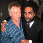 Larry Williams and Dr. Cornel West at Quincy Jones' 75th birthday celebration, Montreaux, Switzerland